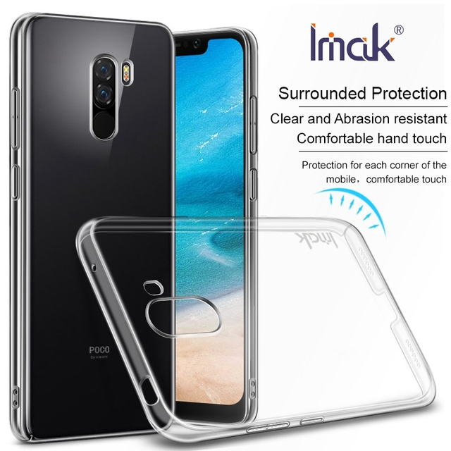 separation shoes 83606 4a9de US $4.74 5% OFF|IMAK Cover for Xiaomi Pocophone F1 Case Hard PC Crystal  Phone Case Poco F1 6.18