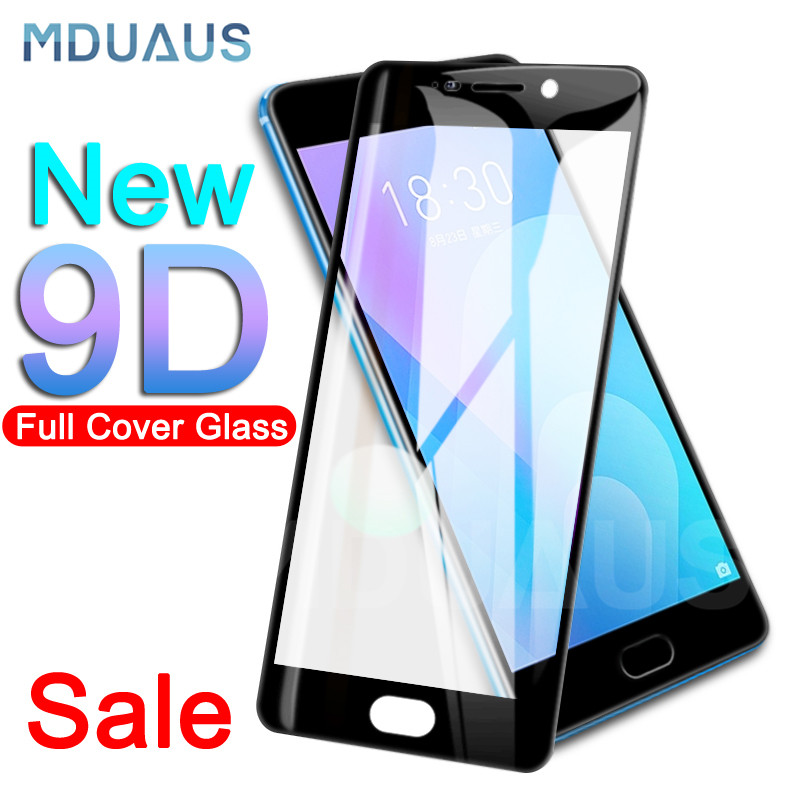 9D Full Cover Tempered Glass On The For Meizu M5 M5S M5C M6 M6S M3 M5 M6 Note M3 M3S M6T Pro 6 7 Plus Screen Protector Film Case(China)