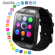 Q18 Men Smart Watch  Support Sim TF Card Phone Call Push Message Camera Bluetooth Connectivity For Android IOS Phone smartwatch q18 smart watch support sim tf card phone call push message camera bluetooth connectivity for ios android phone