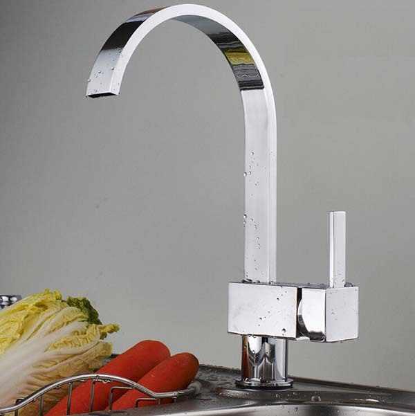 O envio gratuito de latão maciço torneira da pia cozinha mixer pull out torneira da cozinha único furo para pia cozinha kf277