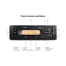 Bygd 1 din автомобилей в тире стерео аудио плеер с немым Функция fm Радио приемник для SD/MMC /USB/RCA Динамик Бесплатная доставка