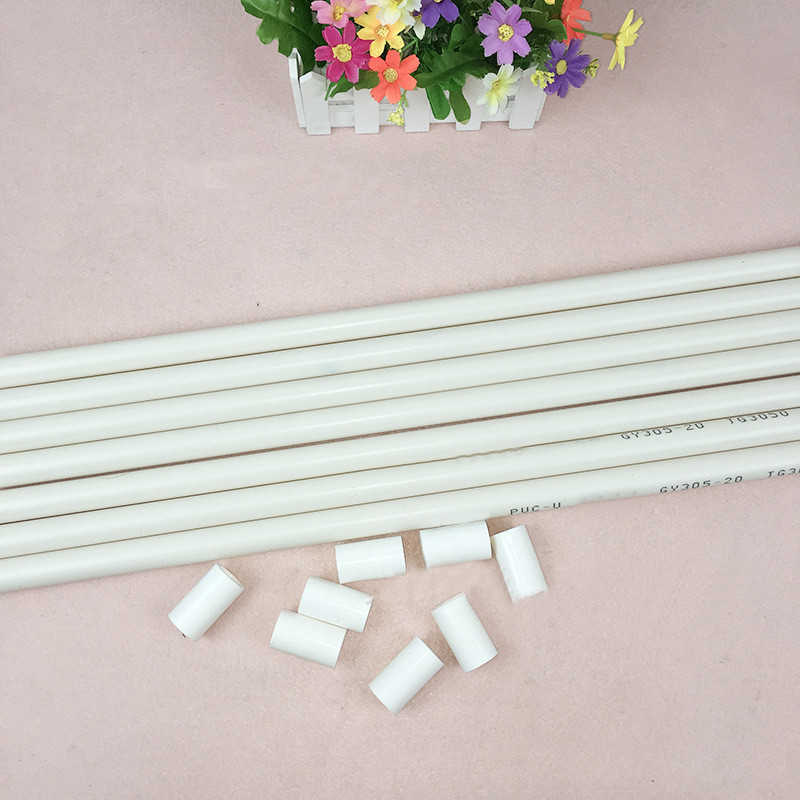 1pc 30cm pvc white sticks connecting rod for balloon arch for Home party tube