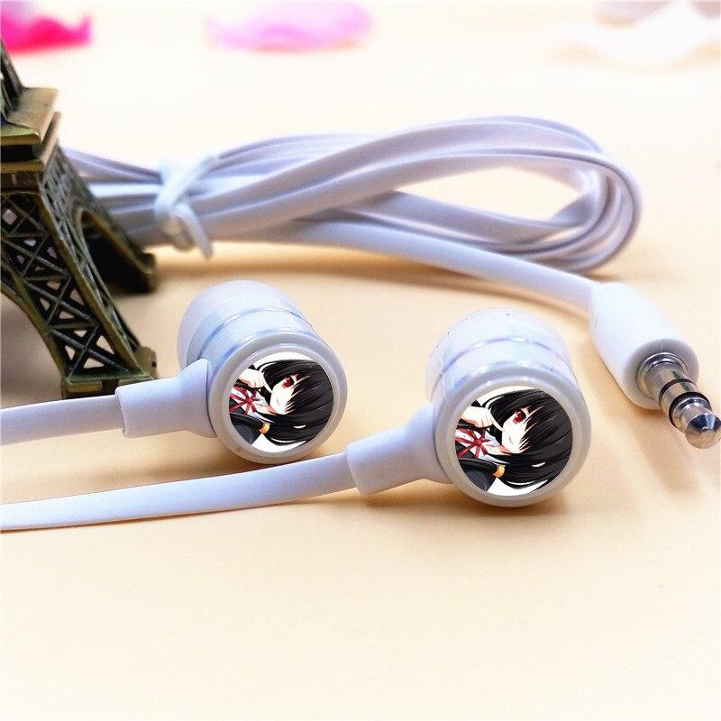 Аниме Дата живой mii hujibakama наушники-вкладыши 3.5 мм стерео вкладыши микрофон телефона игры музыка гарнитуры для iphone Samsung mp3