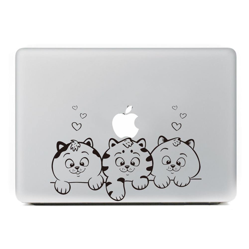 Loving cat Laptop Sticker for MacBook Decal Air/Pro/Retina 11 13 15 Computer Mac Cool skin Pegatina para notebook