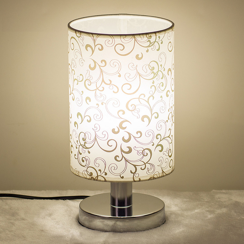 nordic modern cloth lampshade wood table lamp study room off