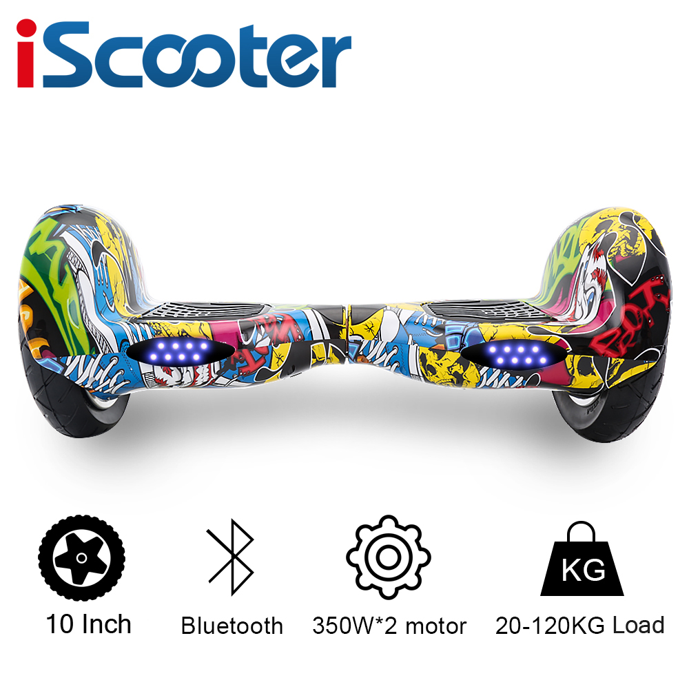 IScooter Hoverboard Bluetooth 10 Inch Two Wheel Smart Self Balancing Scooter Electric Skateboard With Speaker Hover Board UL2722