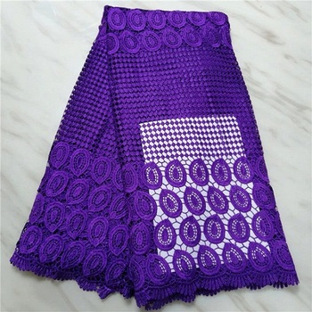 Factory offers latest cord lace fabric 2019 High quality African lace with monochrome lace in White for Party Dresses(16L-4-19