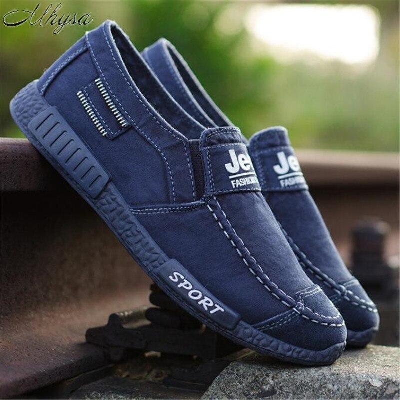 100% QualitäT Mhysa 2019 Neue Frühjahr Und Sommer Männer Leinwand Schuhe Mode Casual Schuhe Einfarbig Komfortable Atmungsaktive Flache Schuhe L104