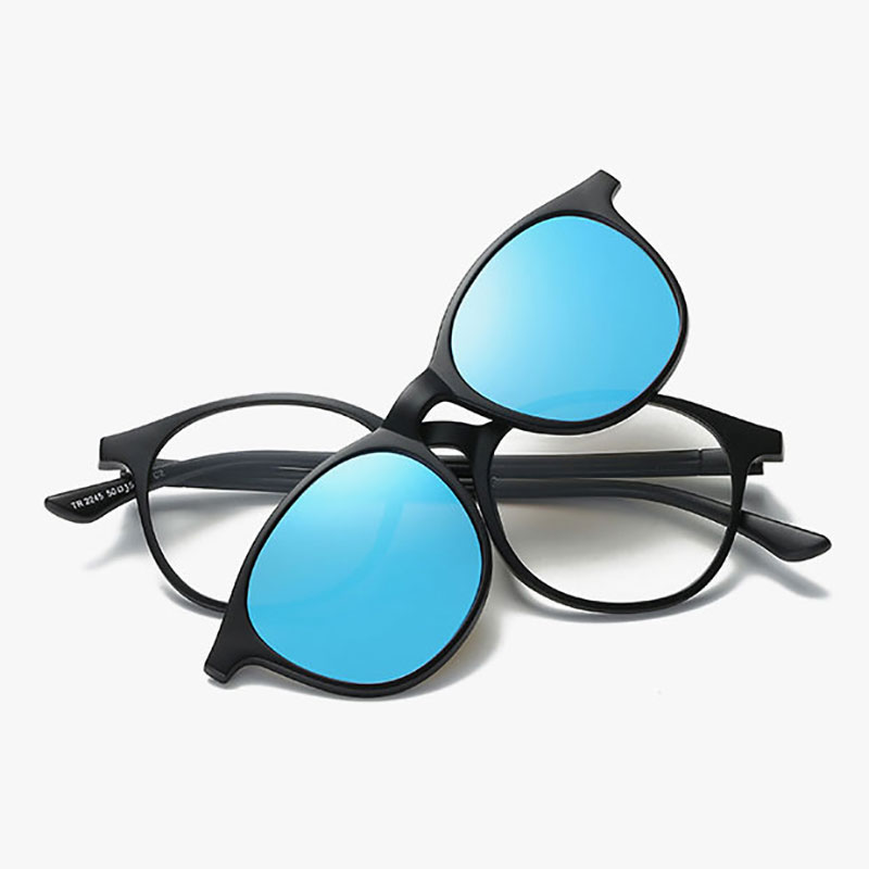 868b10f8f926 Reven Jate 2245 Plastic Polarized Sunglasses Frame with Magnetic Super  Light Mirror Coating Polarize Sunwear Clip ons-in Sunglasses from Apparel  Accessories ...