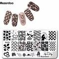 DIY Valentine Gift Heart Love Designs Rose Rectangle Stamping Plate Code Opera Mask Jewelry Plant Nail Art Image Plate Mezerdoo3
