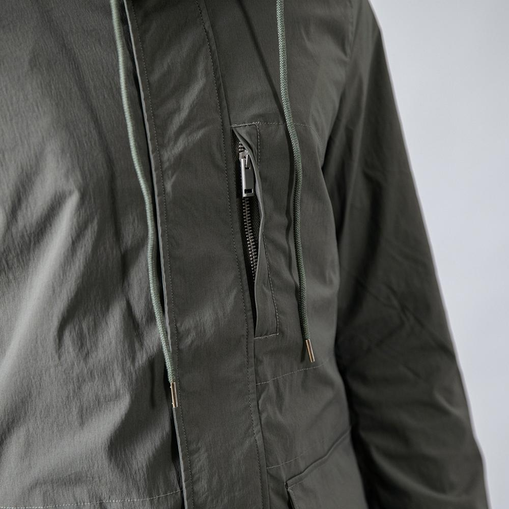 Slim Fit Pocket Hooded Trench Coats  4
