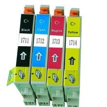 For Epson T1711 T1701-T1704 Compatible ink cartridge For Epson t1711 Expression Home XP-103 XP-203 XP-207 XP-313 XP-413 printer цена в Москве и Питере