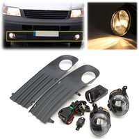 55W Front Left Right Foglight Grille Kit Set W Wiring Headlight Switch For VW T5 TRANSPORTER