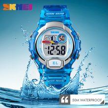 New Sports Watches Children Kids Watch Boys Girls Student Waterproof Alarm Clock Stopwatch Timing LED Luminous Digit Wrist