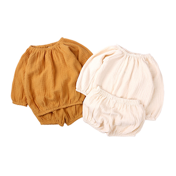 Baby Girls Clothing Sets Summer Infant Newborn Girls Clothes Cotton Solid Top+Pants 2PCS Boys Bebes Outfits Set MB517 1