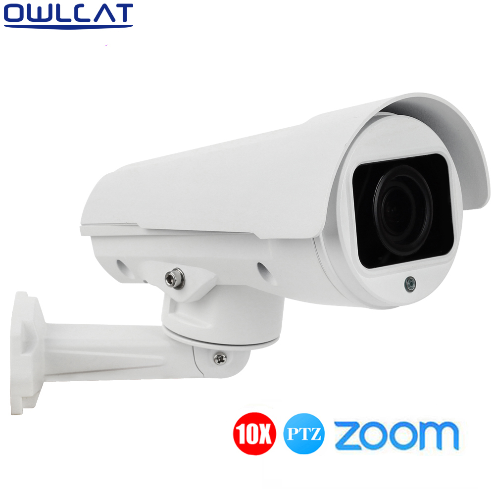 OWLCAT HD 1080p PTZ IP Camera Outdoor 4X Zoom Auto Focus Lens Network CCTV wired Camera Outdoor IR-CUT Onvif P2P Mobile Monitor onvif hd 2 0mp 20x optical zoom 100m ir distance 1080p ptz cctv wired camera speed dome camera with auto wiper