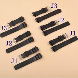 Neway 16 мм X мм 25 Резиновая Ремешки для наручных часов мужские черные спортивные силиконовые часы ремешок Casio 5600 серии 6900 9052 аксессуары часов
