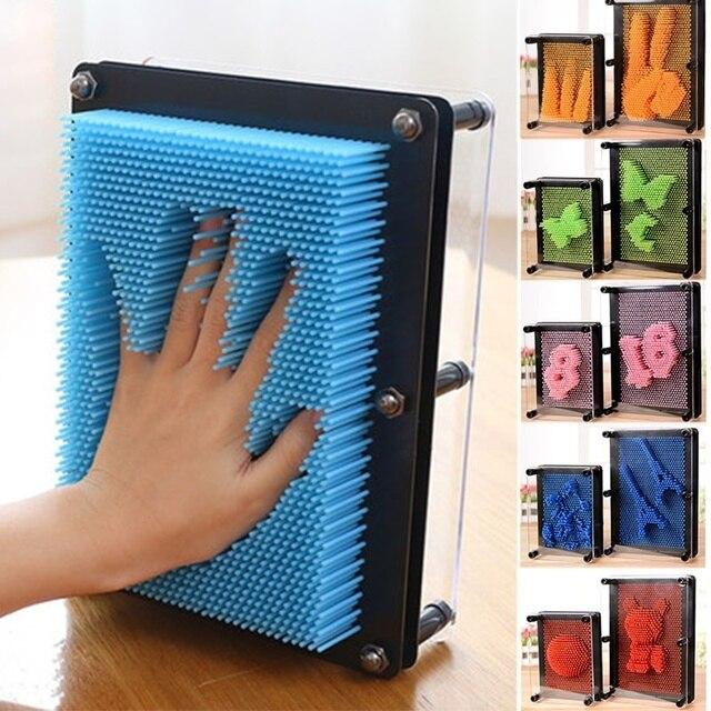 1 unid pieza 3D clon Pin arte plástico juguete divertido juego Pinart 3D clon forma Pin arte Shoumo colorido aguja niño obtener cara Palma modelo