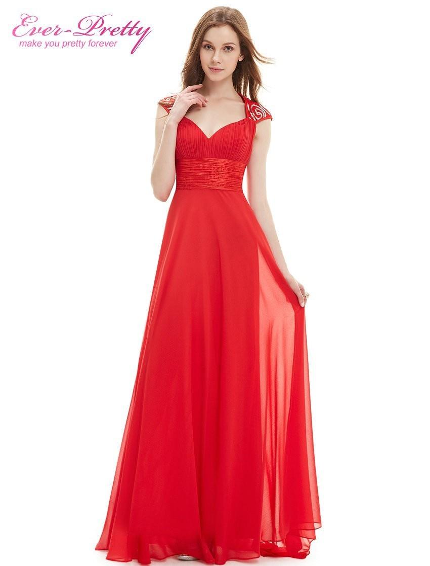 Aliexpress.com : Buy Evening Dress Red Color Ever Pretty EP09672 ...