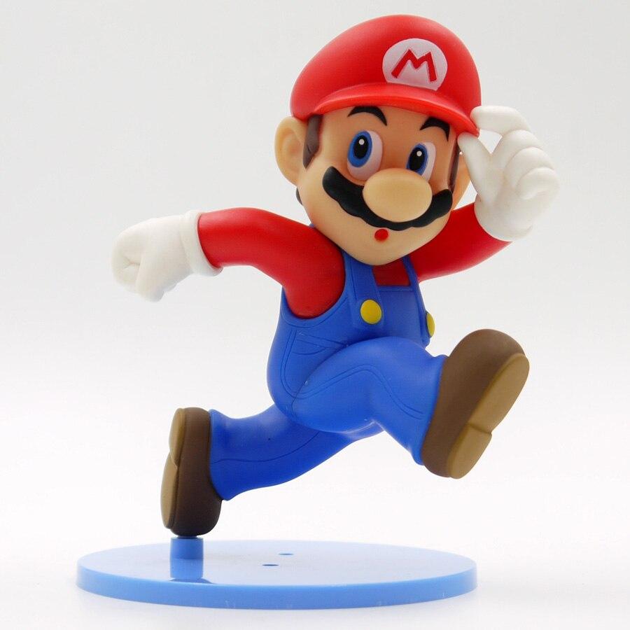 14 см Super Mario Фигурки Бег Марио ПВХ фигура Игрушечные лошадки Бесплатная доставка ...