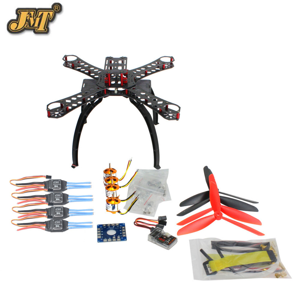 JMT DIY BNF Drone Multicopter Kit 310 mm Fiberglass Frame QQ SUPER Multi-rotor Flight Control 1400KV Motor 30A ESC freya подвесная люстра freya serra fr612 05 wg