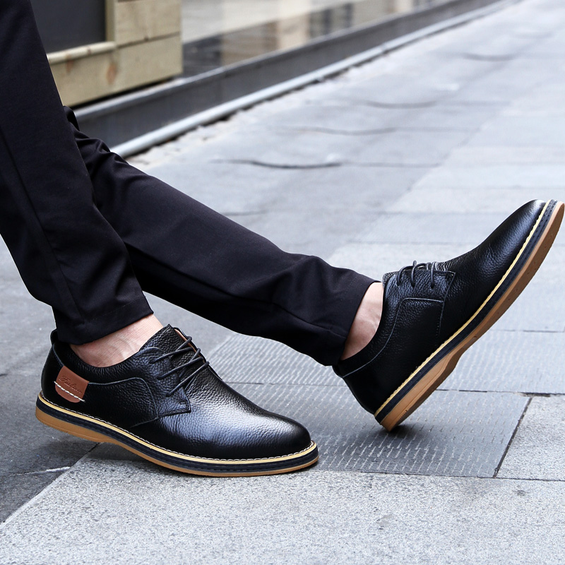 HTB1SPn5c8OD3KVjSZFFq6An9pXaM 2019 New Men Oxford Genuine Leather Dress Shoes Brogue Lace Up Flats Male Casual Shoes Footwear Loafers Men Big Size 39-48