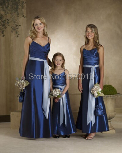 Royal Blue Bridesmaid Dresses Long Prom Gown Vestido De Festa Curto Dress  To Party Adult  Teenager  Child e59432aab905