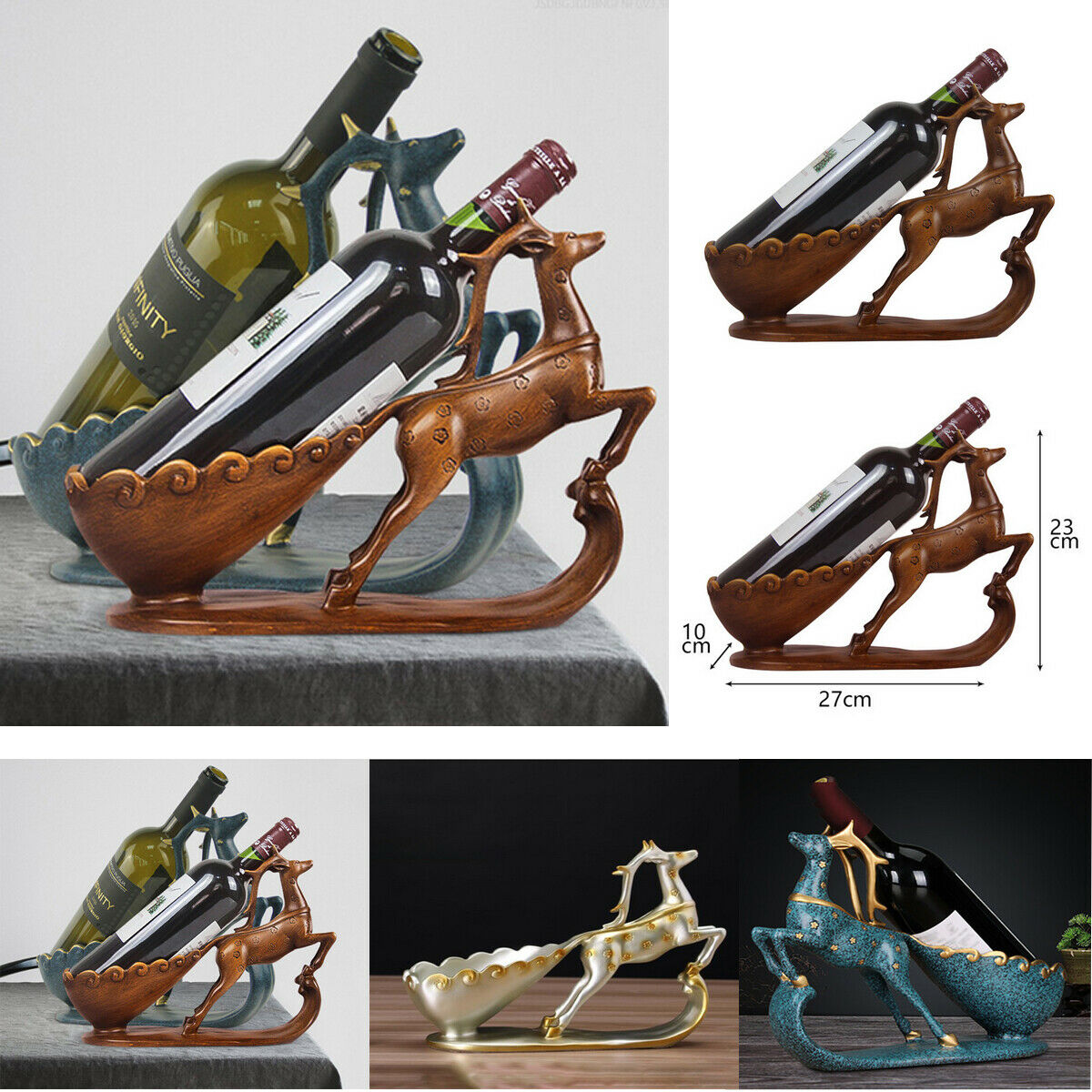 Veados rack de vinho mobiliário doméstico ornamentos garrafa criativa sala de estar ornamentos vinho-festa criativo de madeira vinho tinto suportes