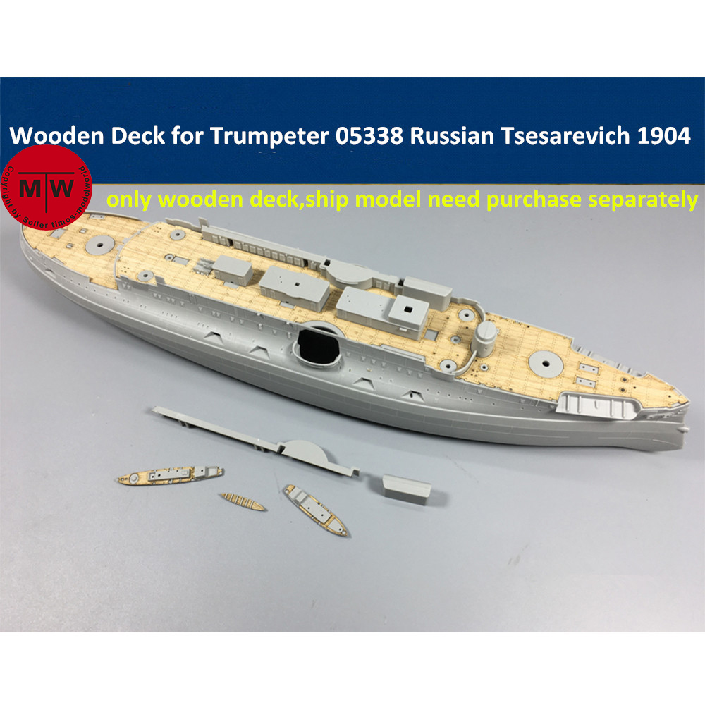 1/350 Scale Wooden Deck For Trumpeter 05338 Russian Navy Tsesarevich Battleship 1904 Model Kit