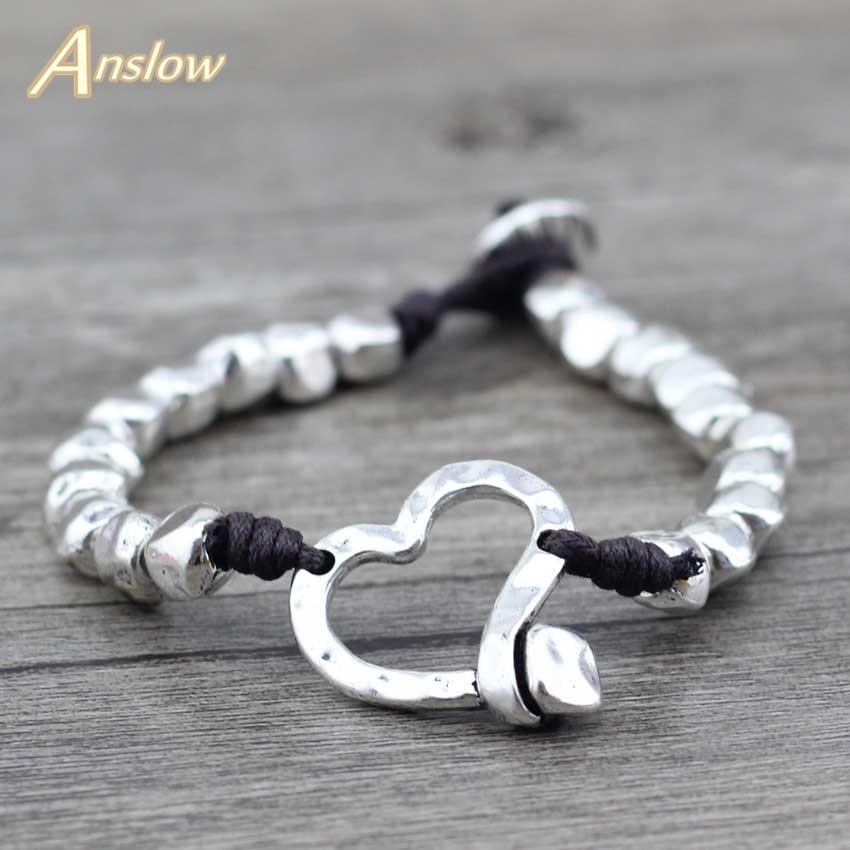 Anslow 2019 New Designer Best Selling Fashion Accessories Retro Vintage Dagonfly Punk Rock Unisex Women Men Bracelets LOW0541LB