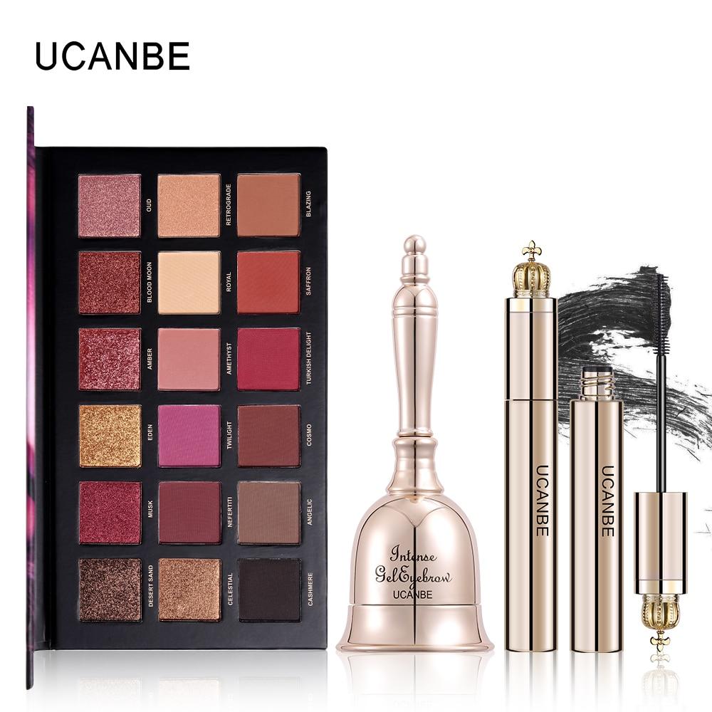 UCANBE Brand 3pcs/lot Dreamland Makeup Sets 18 Colors