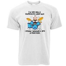 Classic Cotton O-Neck Short-Sleeve Tees Chemistry Joke No Reaction Croud Stand Up Funny Joke Humor Men'sT Shirts