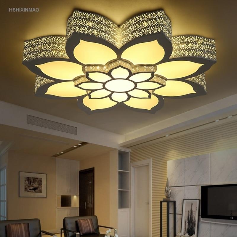 Светодиодная лампа в форме цветка лотоса, потолочная лампа для гостиной, спальни, лампа для учебы, коммерческое офисное пространство, потол...