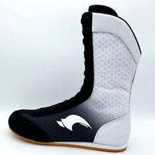 Профессиональные боксерские борцовские ботинки Резиновая подошва дышащие армейские кроссовки на шнуровке профессиональные тренировочные сапоги для боя 80905