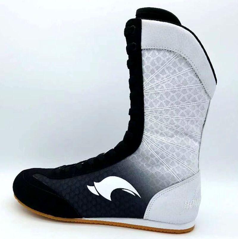 Sola de Borracha Tênis de Combate Botas de Combate Profissional Boxe Wrestling Sapatos Respirável Rendas-up Treinamento 80905