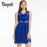 Tanpell Light Plum Homecoming Dress Beaded Lace Above Knee Sleeveless A Line Dress Cheap Girls Party