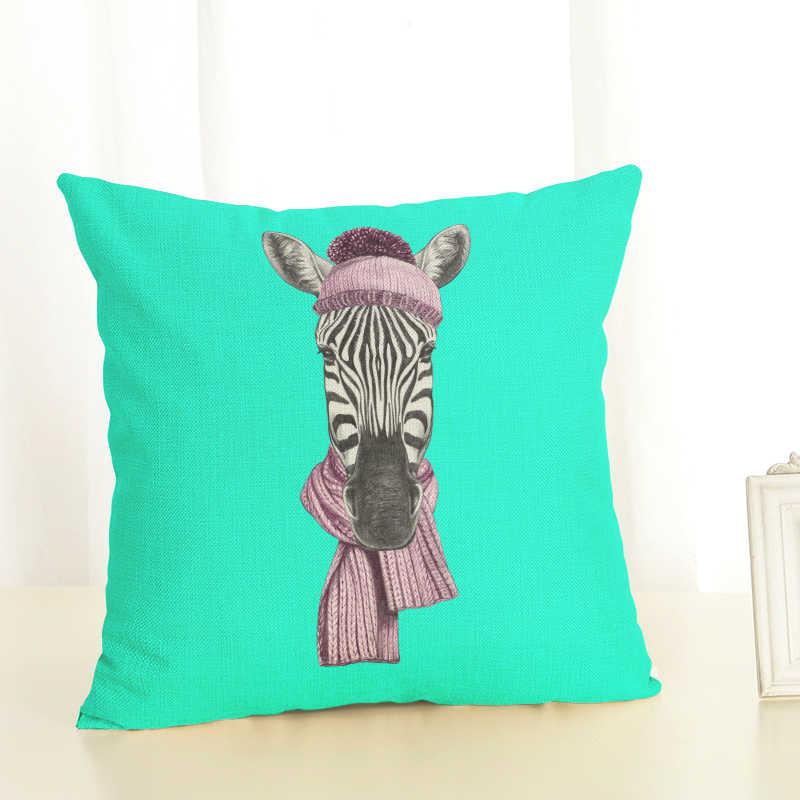 Yeni Ev Dekor Yastık zebra minder örtüsü Keten Yastık Kılıfı Sandalye Kanepe Ev Dekor Atmak Yastık Örtüsü 45x45 cm