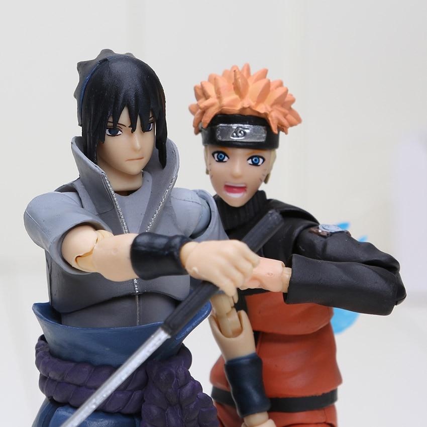 14cm Naruto Uchiha Sasuke Itachi Namikaze Minato Hatake Kakashi Gaara Jiraiya PVC Action Figure Toys Model