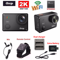 Gitup Git2 Novatek 96660 1080P WiFi 2K Outdoor Sports Action Camera Mic Remote Control Extra 1pcs