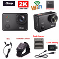 Gitup Git2 Novatek 96660 1080P WiFi 2K Outdoor Sports Action Camera+Mic+Remote Control+Extra 1pcs Battery+Battery Charger