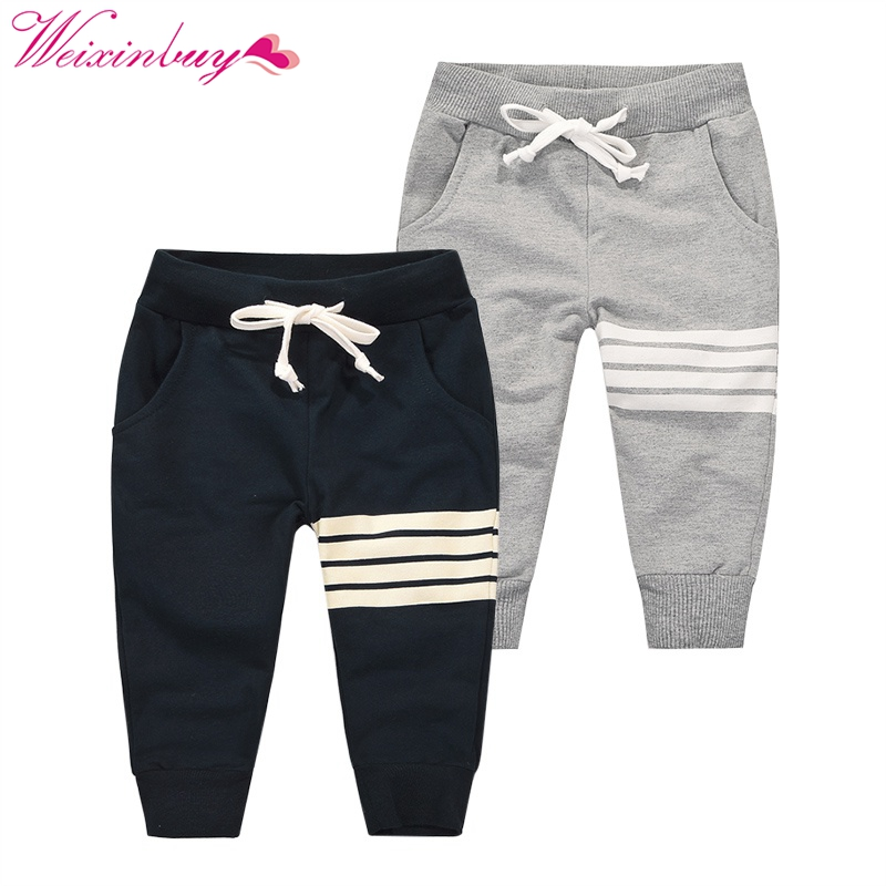 fashion new Korean boy leisure cotton Pants children active sports outdoor trousers  drawstring casual pants 1-10Y
