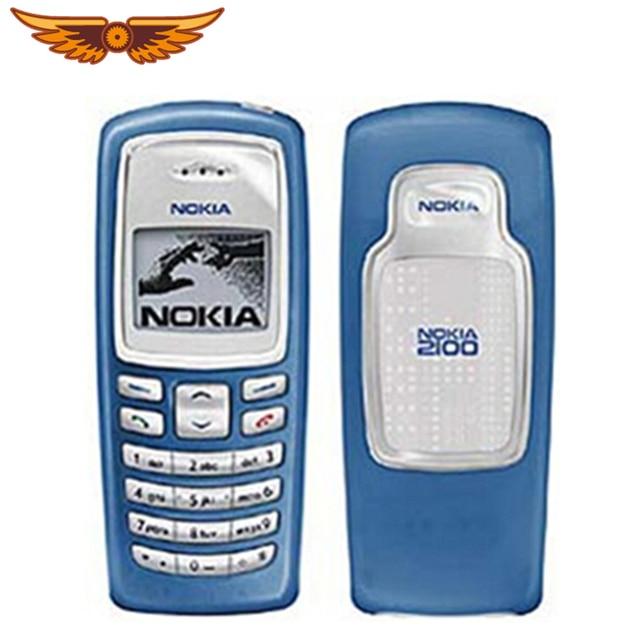 Năm 100% Ban Đầu Mở Khóa NOKIA 2100 GSM 2G 680 mAh Giá Rẻ Tân Trang Thanh Điện Thoại Miễn Phí Vận Chuyển