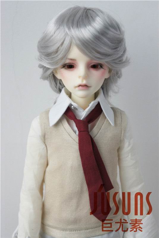 JD075 1/4  BJD wigs SD Smooth Cut  doll wigs 7-8inch synthetic mohair toy wig Lati Blue doll accessories 1 3 1 4 bjd wigs hot sell bjd sd short curly wig for diy dollfie mohair like
