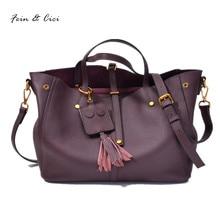 women large big totes bag genuine leather tassels bao bao handbag crossbody bags summer 2017 new