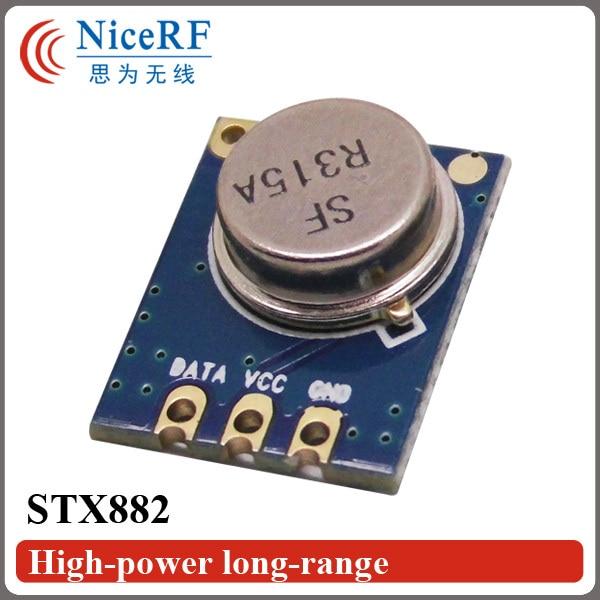 imágenes para Shipping-10pcs/Lot libre STX882 Superheterodino de Alta Potencia 433/315 MHz ASK Módulo Transmisor