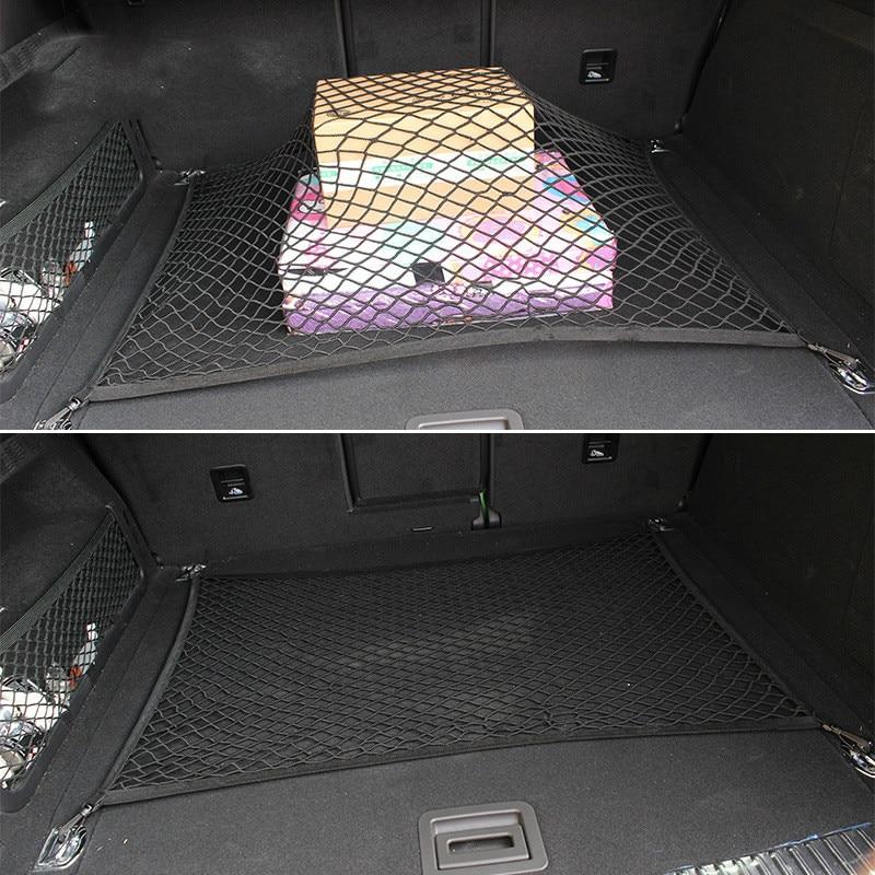 Авто Уход 70x70 см Универсальный для хранения багажа в багажник автомобиля Грузовой Органайзер нейлоновая эластичная сетка с 4 пластиковыми крючками