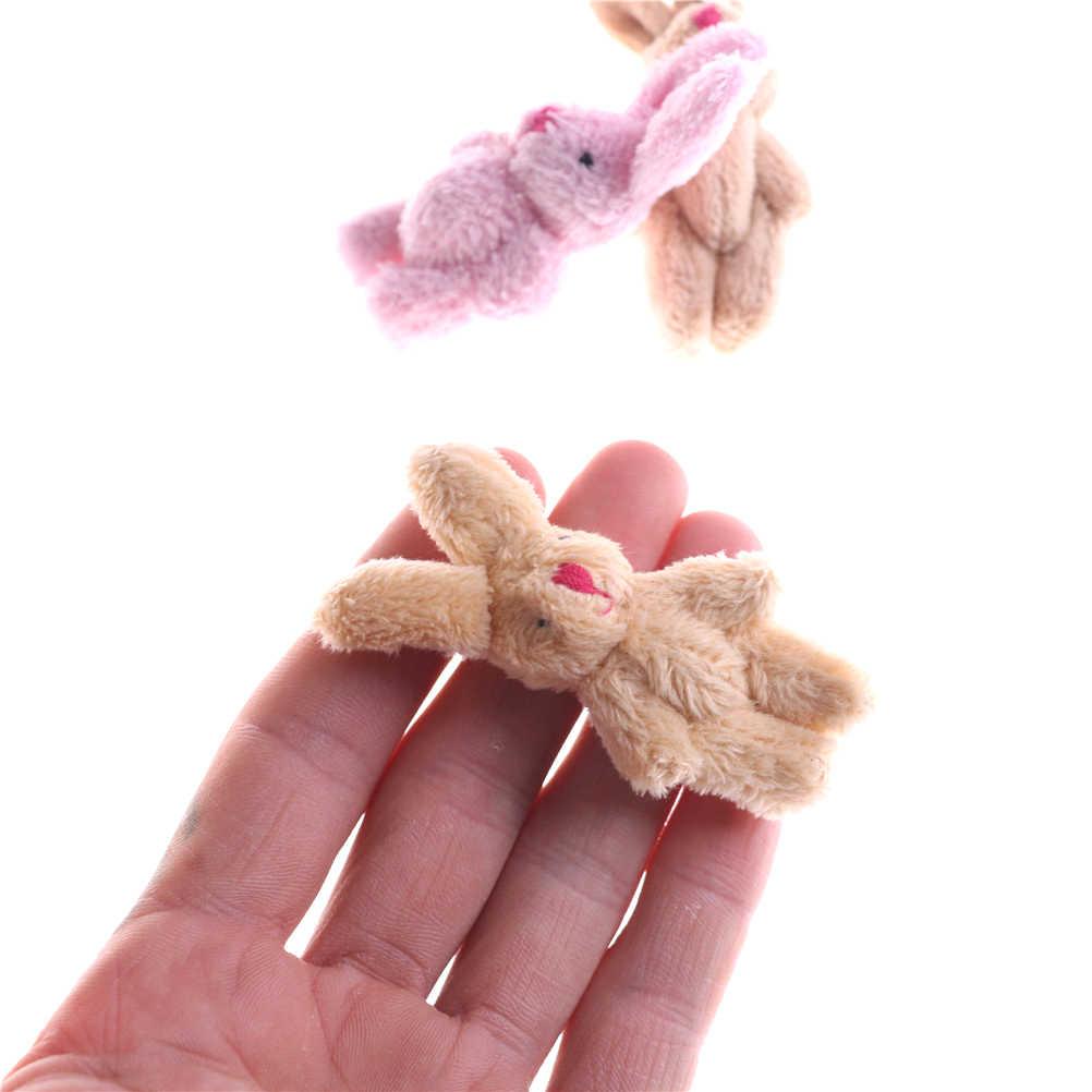 1 pc Mini Cute Suave Pingente de Coelho Coelho de Pelúcia Para Presentes Enfeites de Boneca DIY Bouquet Brinquedo Da Corrente Chave