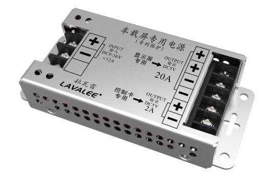 Écran LED de puissance de ASD-12D5N20A100ET de voiture, 12 ~ 36 v à 5 v, 20A-100w, alimentation Ultra-mince d'affichage de LED, affichage de LED de P3 P6 P10