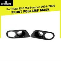 Carbon Fiber Front Foglamp Mask Car Fog Light Covers for BMW E46 M3 Bumper 2001 2006