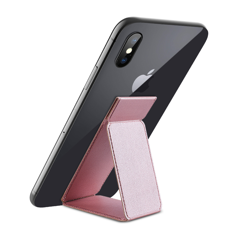 New Folded PU Finger Holder Universal Grip Stand Holder For Cell Phones Tablets Desk Stand Grip Mount For IPhone 11 X 8 7 Plus